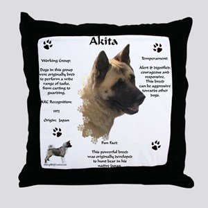 Akita 1 Throw Pillow