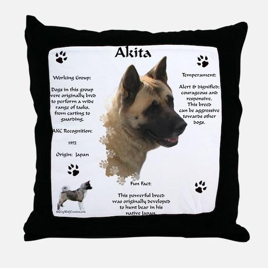 Akita 1 Throw Pillow