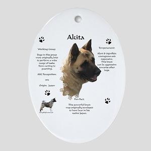 Akita 1 Oval Ornament