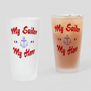 My Sailor My Hero Drinking Glass