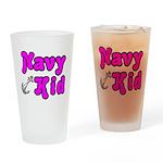 Navy Kid (pink) Drinking Glass