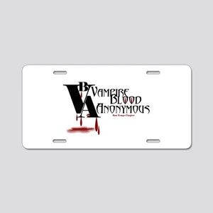 Blood Anonymous Aluminum License Plate