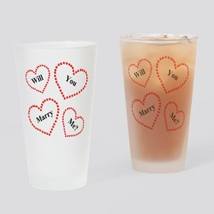 Love & Hearts Drinking Glass
