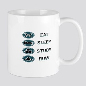 Eat Sleep Study Row Mugs