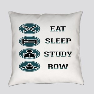 Eat Sleep Study Row Everyday Pillow