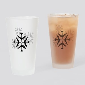 B-52 Aviation Snowflake Drinking Glass