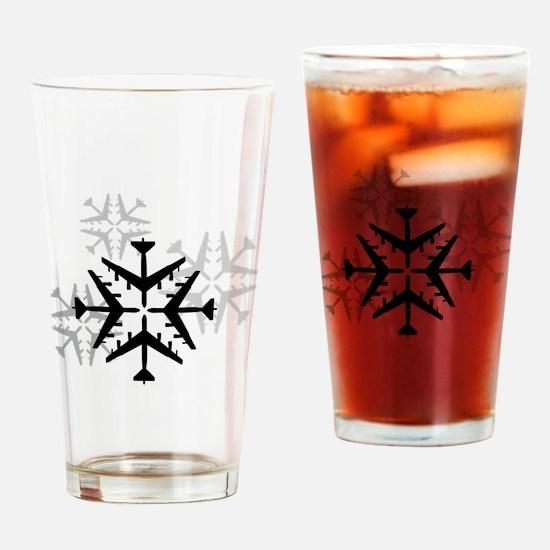 B-52 Aviation Snowflake Drinking Glass