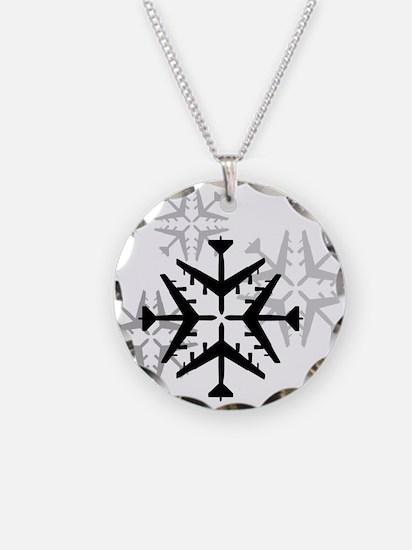 B-52 Aviation Snowflake Necklace