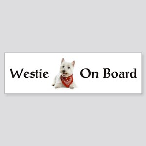 Westie On Board Sticker (Bumper)