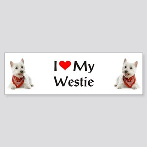 I Love My Westie Sticker (Bumper)