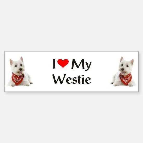 I Love My Westie Sticker (Bumper)
