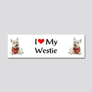 I Love My Westie Car Magnet 10 x 3