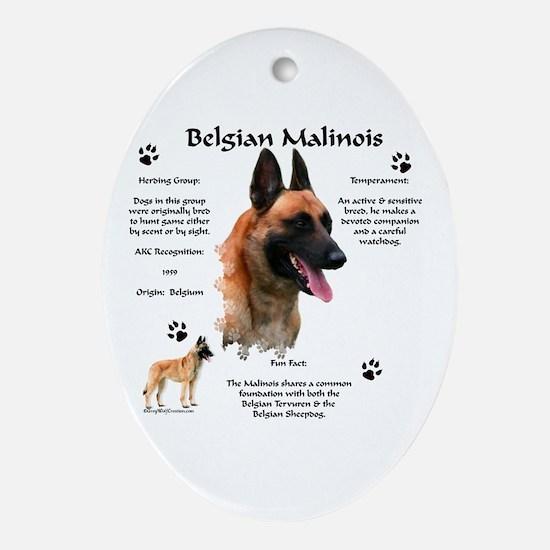 Malinois 1 Oval Ornament
