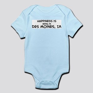 Happiness is Des Moines Infant Creeper