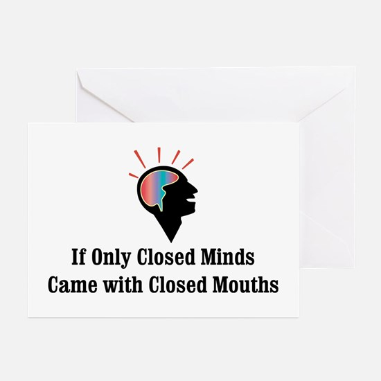 Closed Minds Greeting Cards (Pk of 10)