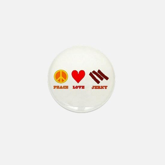Peace Love Jerky Mini Button