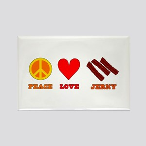 Peace Love Jerky Rectangle Magnet