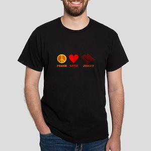 Peace Love Jerky Dark T-Shirt