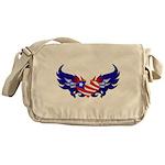 Heart Flag Messenger Bag