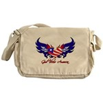 God Bless America Heart Flag Messenger Bag