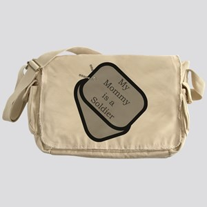 My Mommy is a Soldier dog tag Messenger Bag