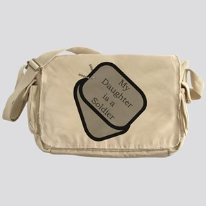 My Daughter is a Soldier dog Messenger Bag