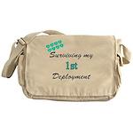 USCG Wife Surviving 1st Deplo Messenger Bag