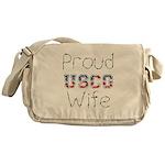 Proud USCG Wife Messenger Bag