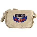 USCG Heart Flag Messenger Bag