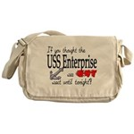 Navy USS Enterprise was hot Messenger Bag