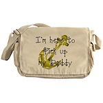 Gold Navy Pick up my Daddy Messenger Bag