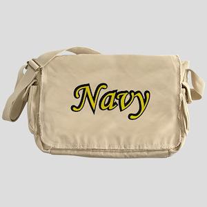 Yellow and Black Navy Messenger Bag