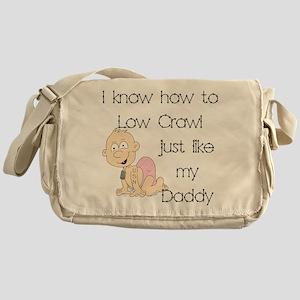 Navy Low Crawl Like Daddy Messenger Bag