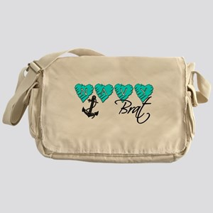 Navy Brat hearts ver2 Messenger Bag