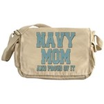 Navy Mom and Proud of it Messenger Bag