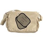 My Fiancee is a Sailor dog ta Messenger Bag