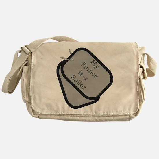 My Fiance is a Sailor dog tag Messenger Bag