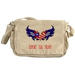 Support our Troops Heart Messenger Bag