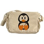Breast Cancer Penguin Messenger Bag