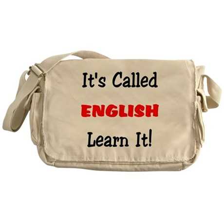 It's Called English Learn It Messenger Bag
