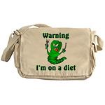 I'm on a Diet Caterpillar Messenger Bag