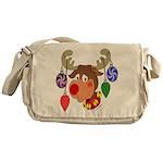 Christmas Reindeer Messenger Bag