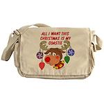 Christmas I want my Coastie Messenger Bag