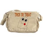 Trick or Treat Ghost Messenger Bag