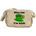 Kiss Me I'm Irish Hat Messenger Bag