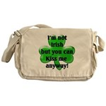 Not Irish, Kiss Me Messenger Bag