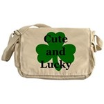 Cute and Lucky Shamrock Messenger Bag
