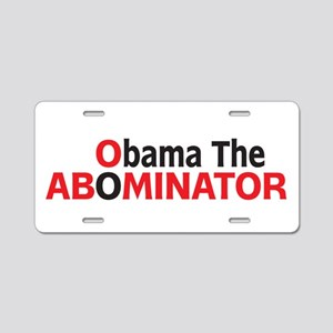 Obama The Abominator Aluminum License Plate