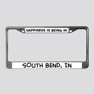 Happiness is South Bend License Plate Frame