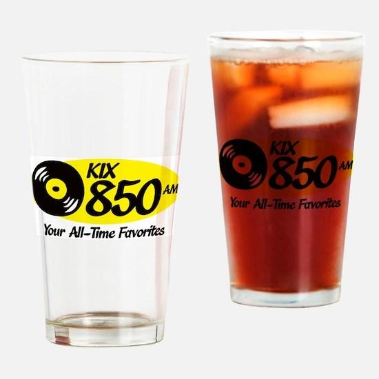 Unique Wkix radio am fm radio station Drinking Glass